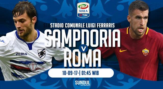 Nhận định bóng đá Sampdoria vs Roma, 2h45 ngày 25/1 (Đá bù vòng 3 Serie A 2017/18) ảnh 1