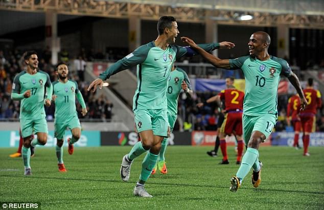 Nhận định bóng đá Bồ Đào Nha vs Thụy Sỹ, 1h45 ngày 11/10 (Vòng loại World Cup 2018) ảnh 1